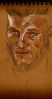 Portrait Sketch: Ragnar Lothbrok from Vikings