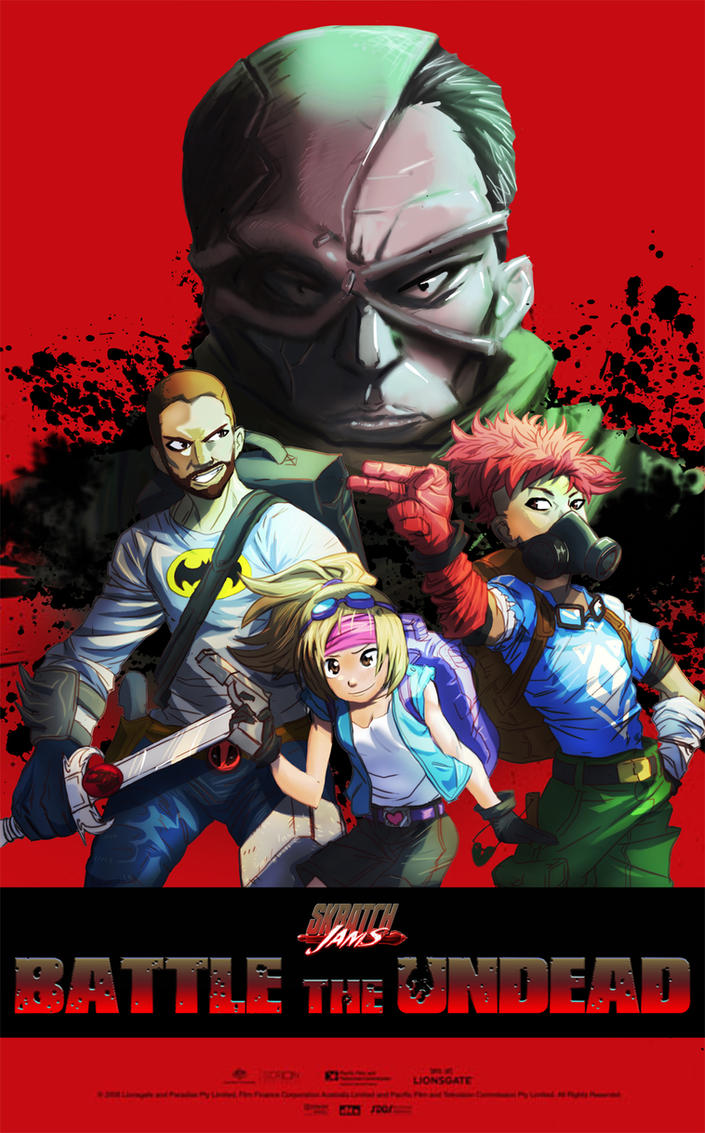 Skratch Jams: Battle The Undead - Movie Poster by SteamJunkie