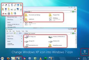 Windows XP icon into Windows 7 by mufflerexoz