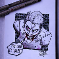 Inktober '17 - DAY 3 - Joker by as-obu