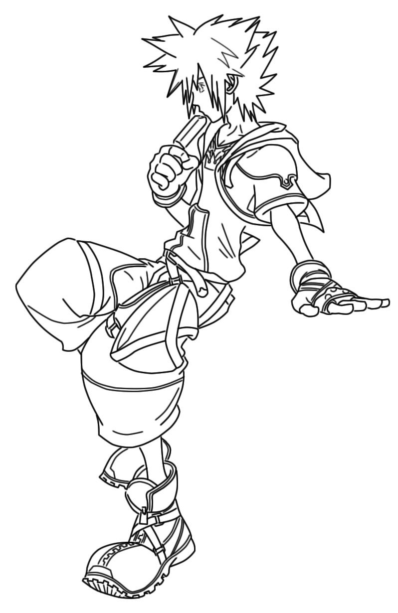 Sora Kingdom Hearts Lineart : Sora lineart by mikel kun on deviantart