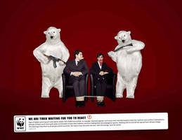 WWF - Global Warming - Desperate Polar Bears by GhostPepperArt