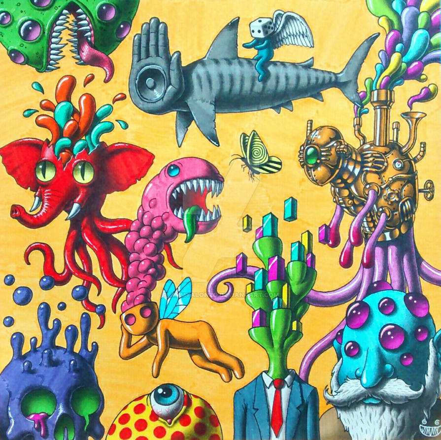 Psychedelic album cover by JimmyAlonzo on DeviantArt  Psychedelic alb...