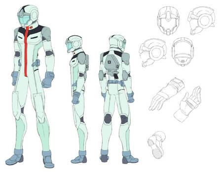 EFSF Gundam Pilot's Normal Suit