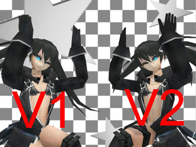 [MMD]Black Rock Shooter 2035 (Hands Update) by M0fD