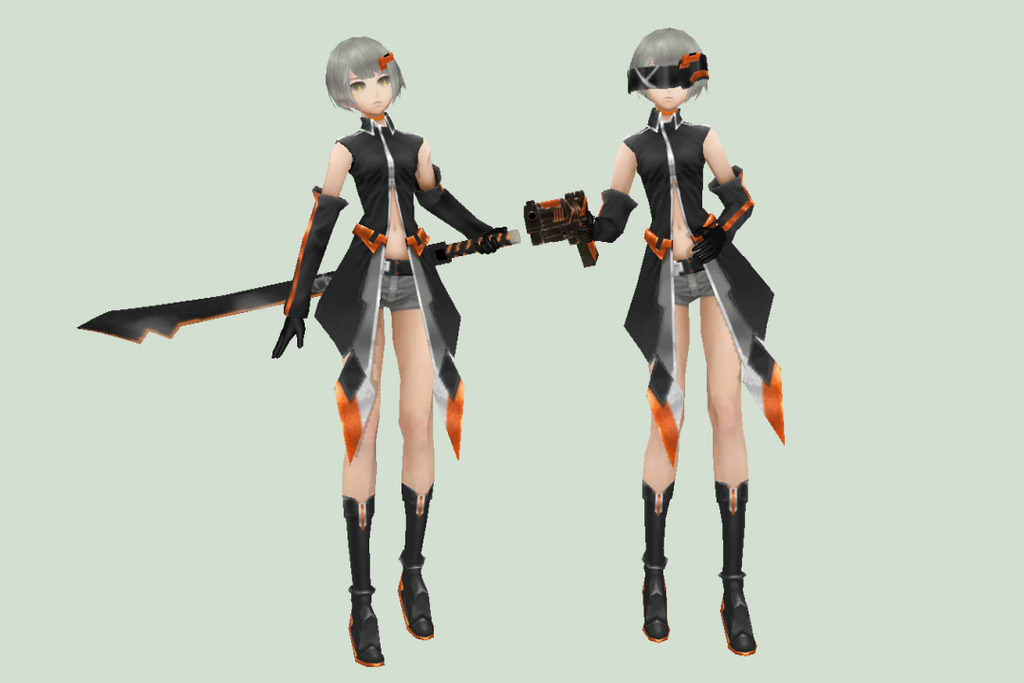 [MMD DOWNLOAD] Black Rock Shooter Nana Gray by M0fD