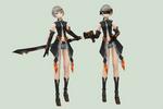 [MMD DOWNLOAD] Black Rock Shooter Nana Gray