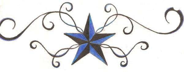 nautical star tattoo design by kiokuforever on deviantart. Black Bedroom Furniture Sets. Home Design Ideas