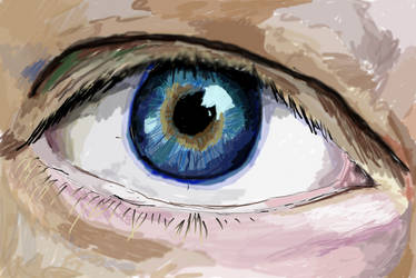 the first eye digital paint by MrSparkles10