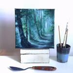 Moonlit Forest by jennifertaylorart