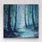 Woodland Blossoms - Forest Print