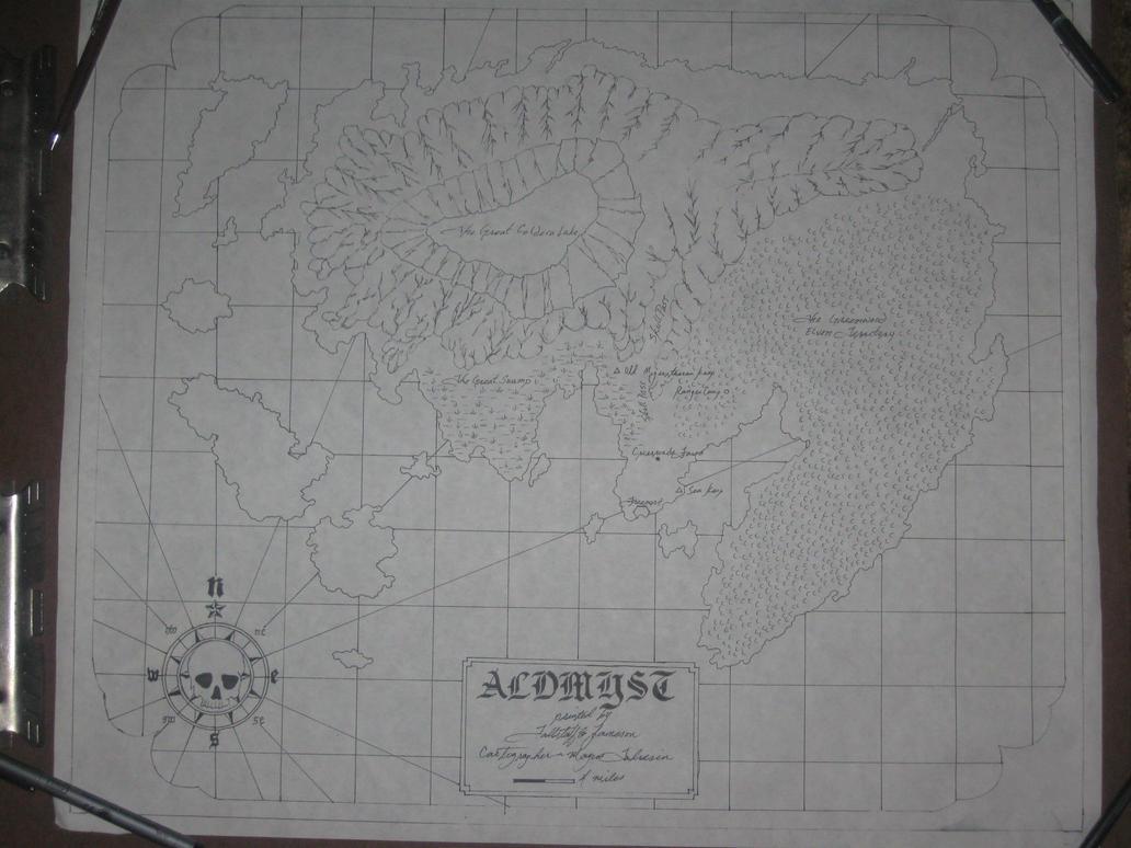 Sea Chart of Aldmyst Island by magustaliesin