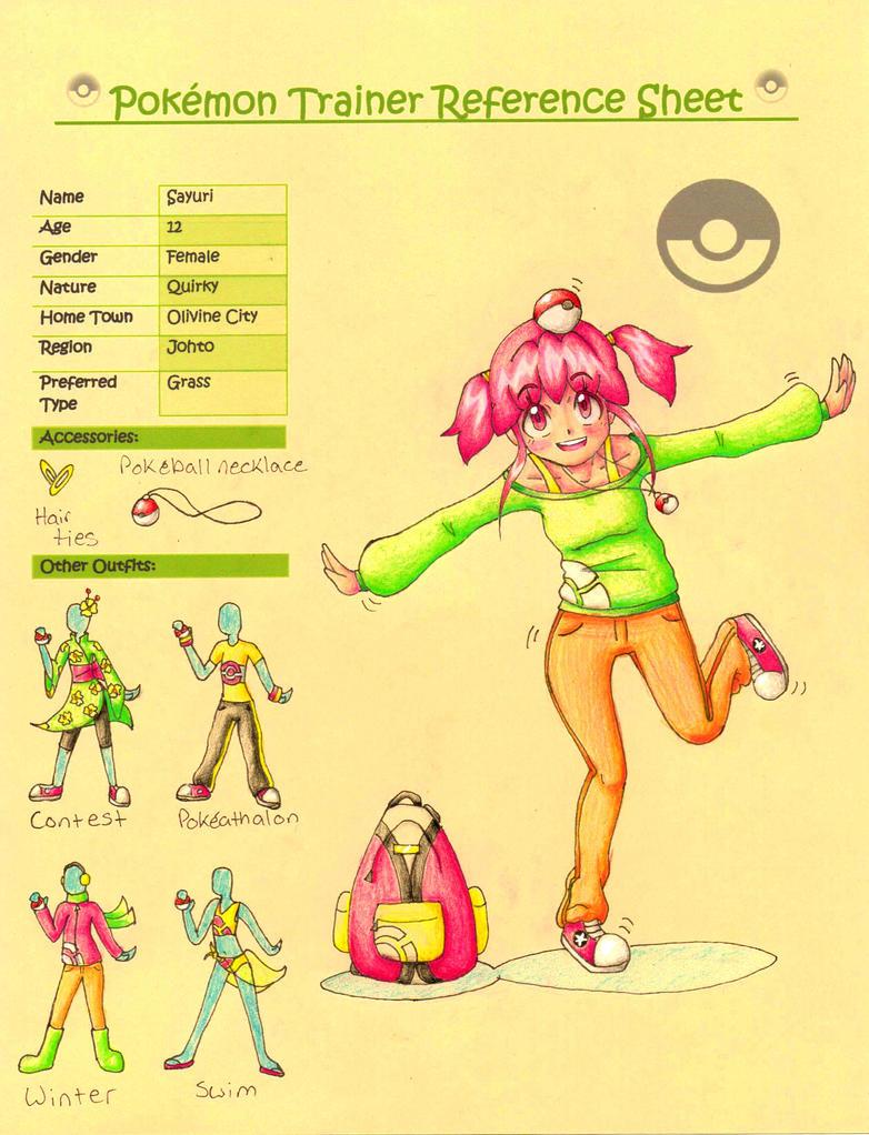 Pokemon Trainer Sayuri Final by KGScribbles
