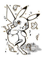 Inktober 2016: Leaping Leaves by KGScribbles