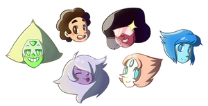 Steven Universe Heads by KGScribbles