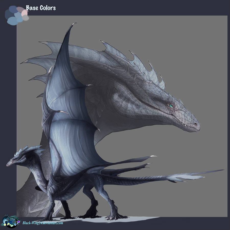 Ice-Breaker Dragon: 'Silence' by Black-Wing24