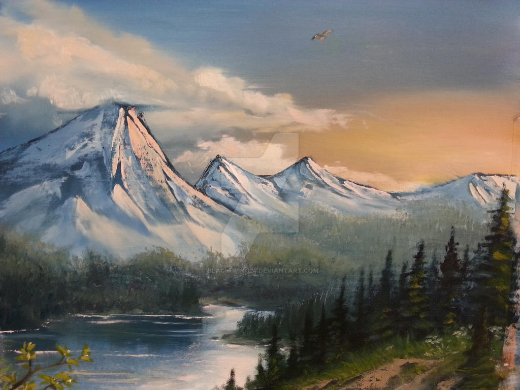 Landscape oil painting by black wing24 on deviantart for Oil painting scenery