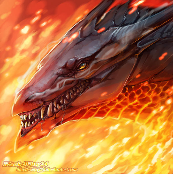 Random Dragon head by Black-Wing24