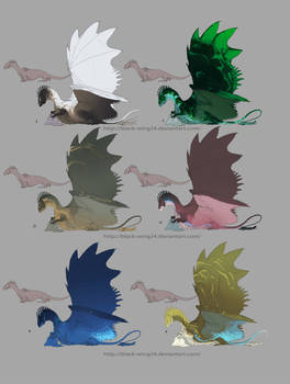 Tax-Wing adopt! (close) by Black-Wing24