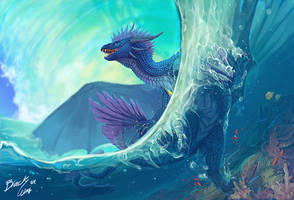 Under The Waves by Black-Wing24