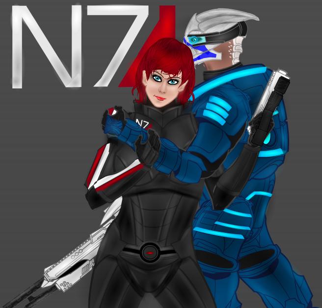 Shepard And Garrus by Tarkarra
