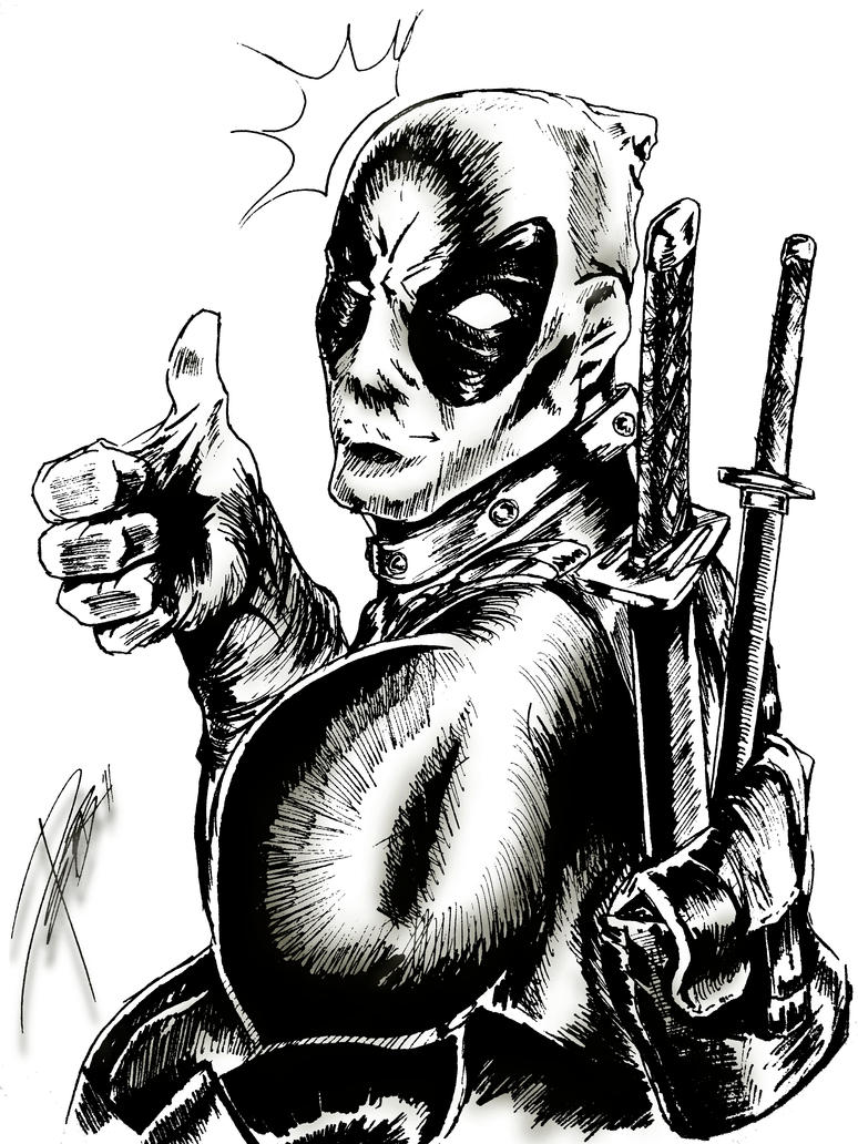Deadpool Sketch By TheWizpir On DeviantArt