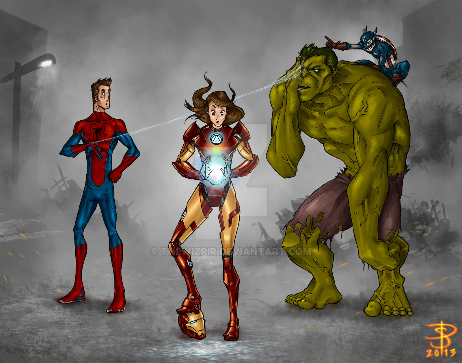Family of Avengers by TheWizpir