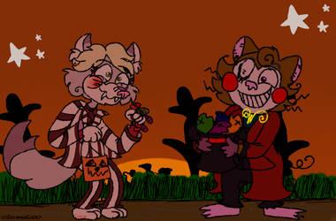 Art Trade:Halloween treats~ by corajbae09