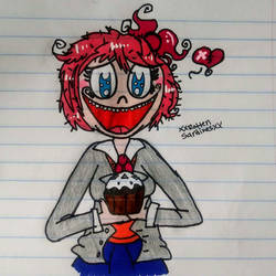 Sayori's cupcake~ by corajbae09