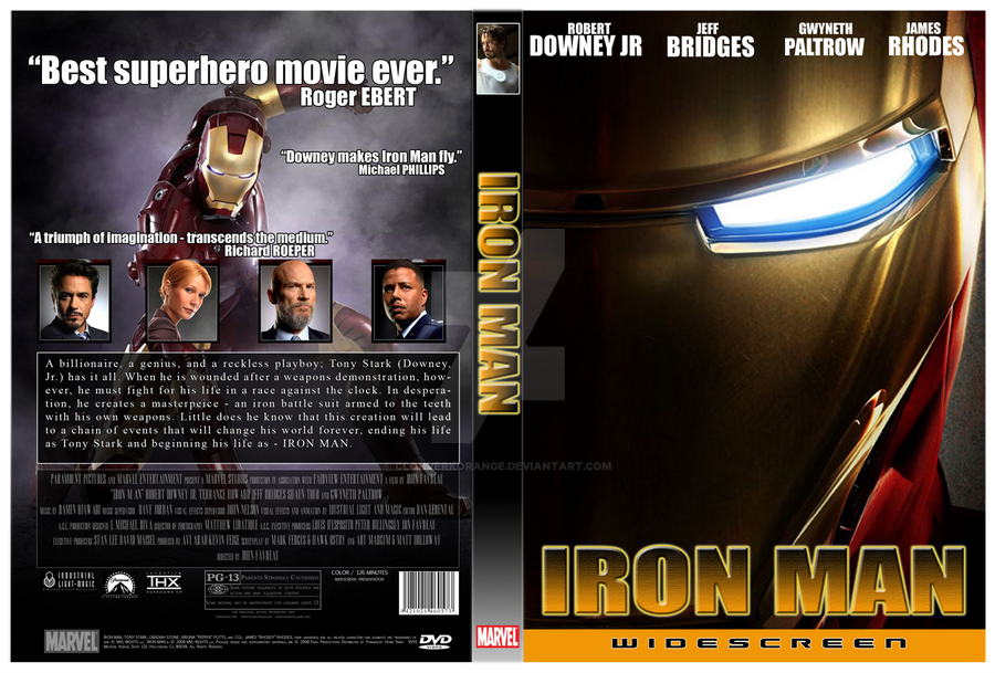 'Iron Man' DVD Cover by clokverkorange