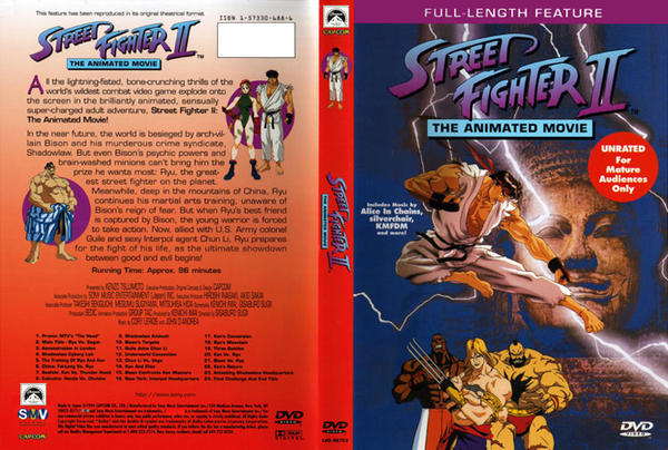 Street Fighter Ii The Animated Movie Dvd Cover By Avgnjr1985 On