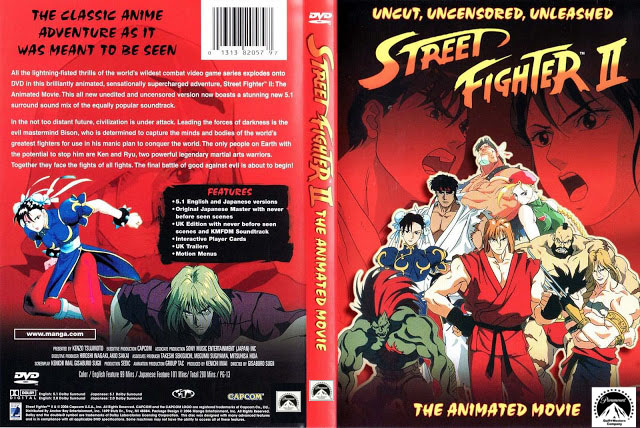 Street Fighter Ii The Animated Uncut Dvd Cover By Avgnjr1985 On