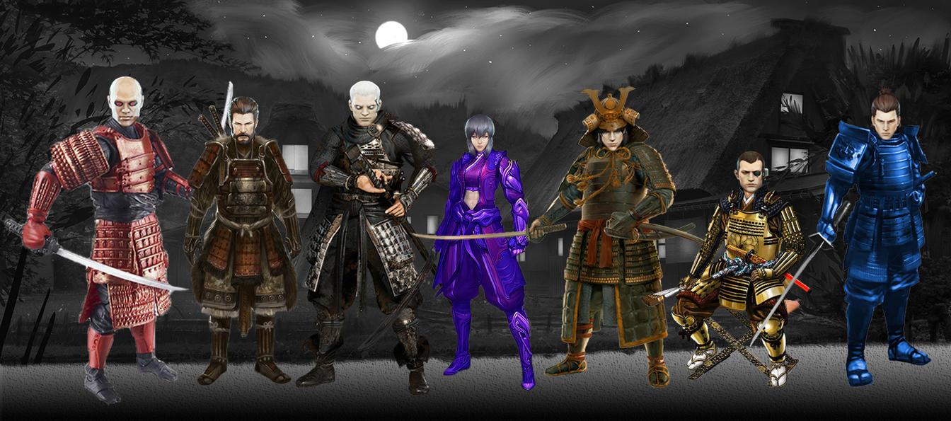 Section 9 Members in Samurai Armor by AVGNJr1985