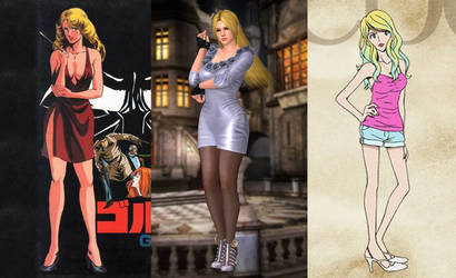 Comparing the 3 Hot Blondes in Animes and Games