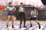 Cute Schoolgirl Fighters Trio