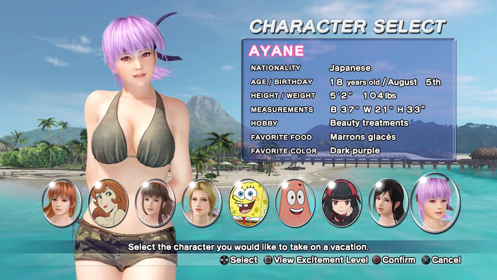 Possible DEAD OR ALIVE Xtreme 4 Selection Screen by AVGNJr1985 on