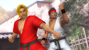 Ryu and Ken in Dead or Alive 5-4