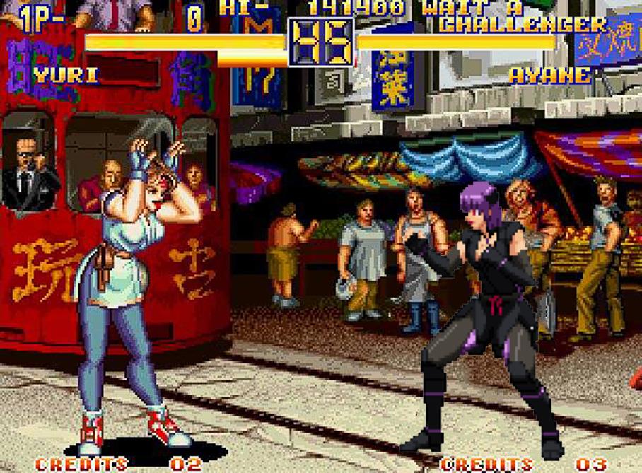 Yuri Sakazaki Vs Ayane In Art Of Fighting 2 By Avgnjr1985 On Deviantart