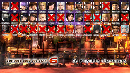 Dead or Alive Fighters List from 1 to 6 - DOA6 by AVGNJr1985