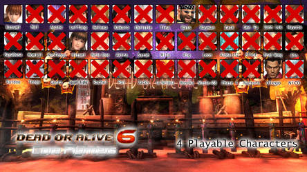 Dead or Alive Fighters List from 1 to 6 - DOA6CF by AVGNJr1985