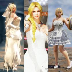 3 Loveliest Blonde Fighters in Wedding Dresses by AVGNJr1985