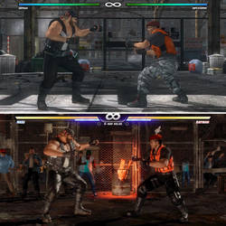 Two tough men in a street fight in DOA5 and DOA6 by AVGNJr1985