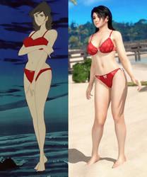 Fujiko Mine and Momiji - Innocence Comparison by AVGNJr1985
