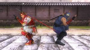 Ryu Hayabusa and Yukimura Sanada in DOA5-3
