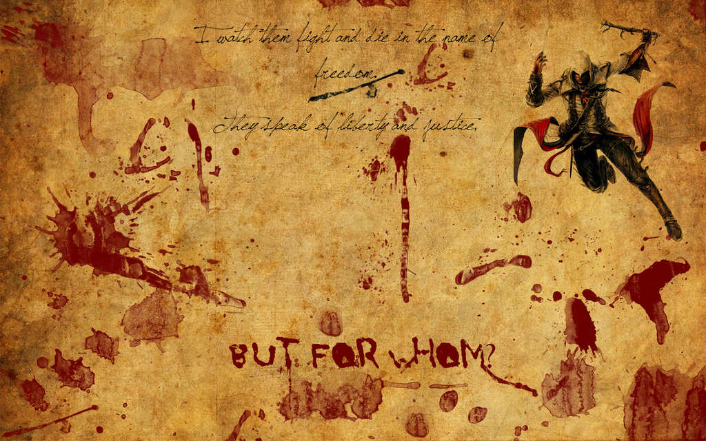 Bloody Parchment Connor Wallpaper By BronyDragonGirl