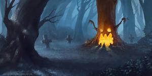 The Pumpkin Tree by stayinwonderland