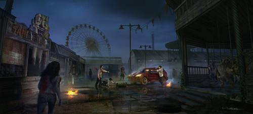 Zombie Amusement Park by stayinwonderland