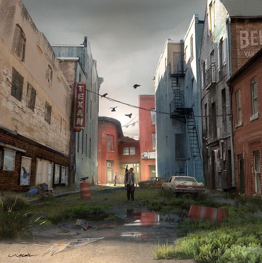 Zombie Alley by stayinwonderland