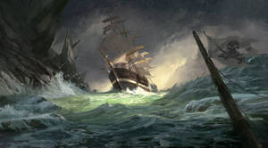 Ship in a Storm by stayinwonderland
