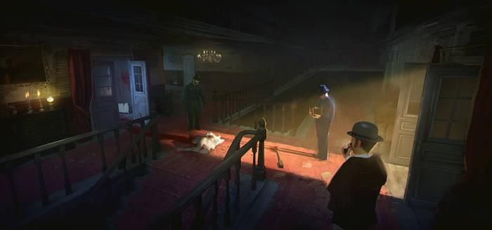 Victorian Murder Concept - Brothel Interior